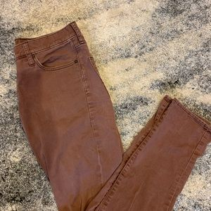 Burgundy Abercrombie & Fitch Pant